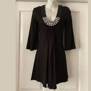 Sky brand new little black dress jeweled Sz M
